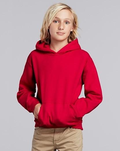 18500B Gildan Heavy Blend Youth Hooded Sweatshirt