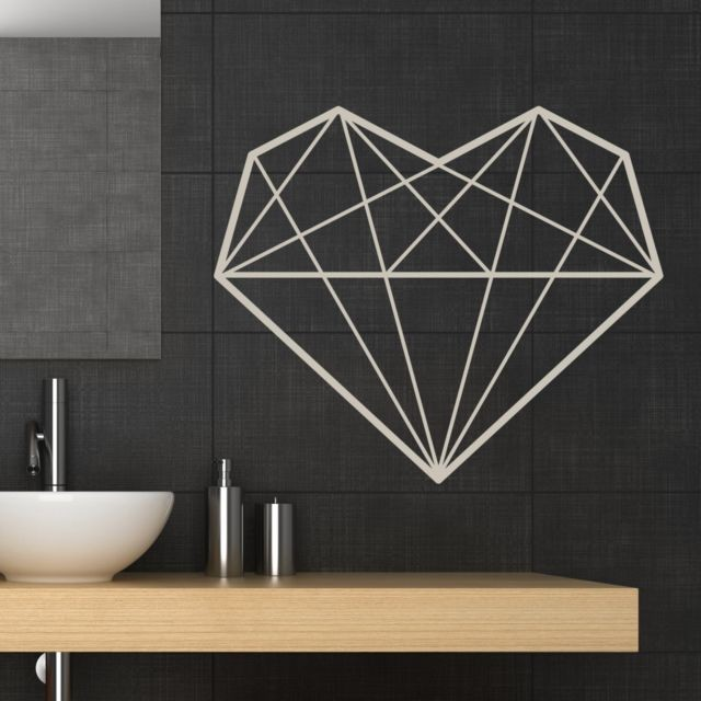 willdesign - geometric heart wall decal - featured products - web