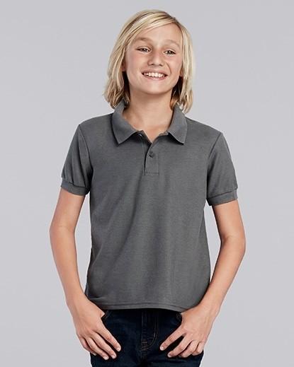 72800B Gildan DryBlend Youth Double Polo Shirt