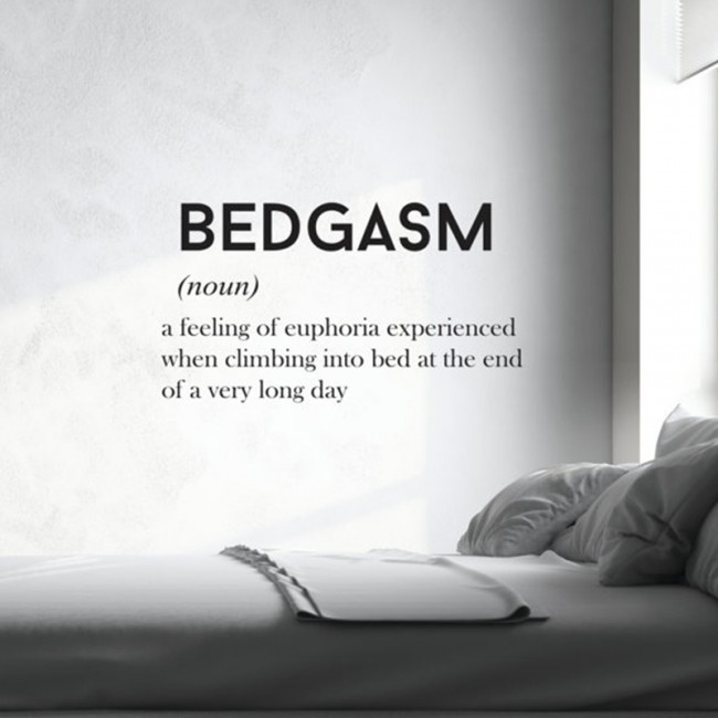 Bedgasm quote wall decal