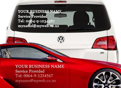 Custom size car van window vinyl stickers