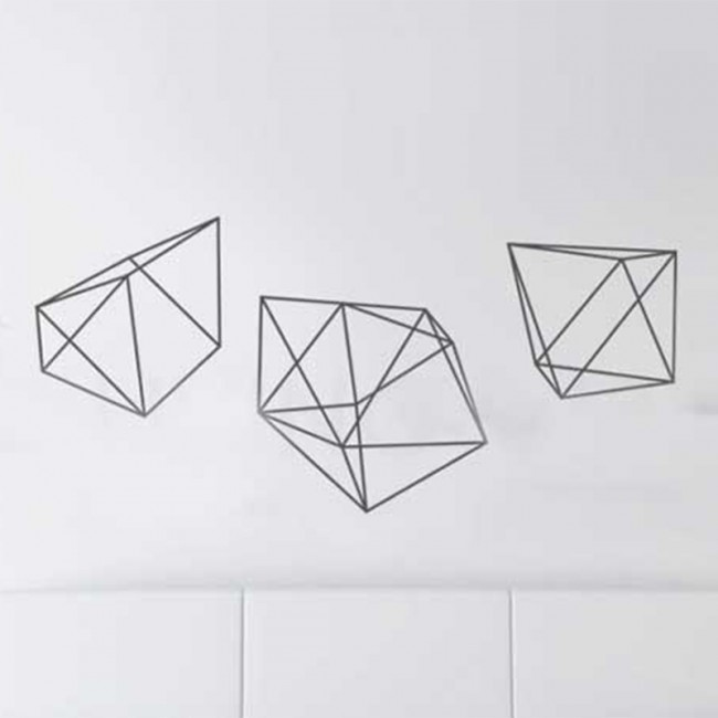 Geometric Pentagon shape wall decal