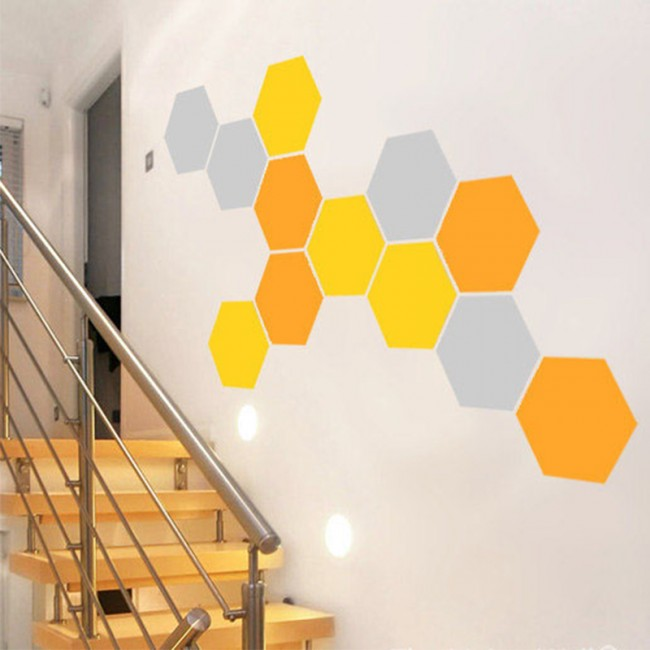 willdesign - honeycomb wall decal - wall decal - wallart - web