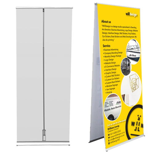 LITE Double sided Banner stand 850mm