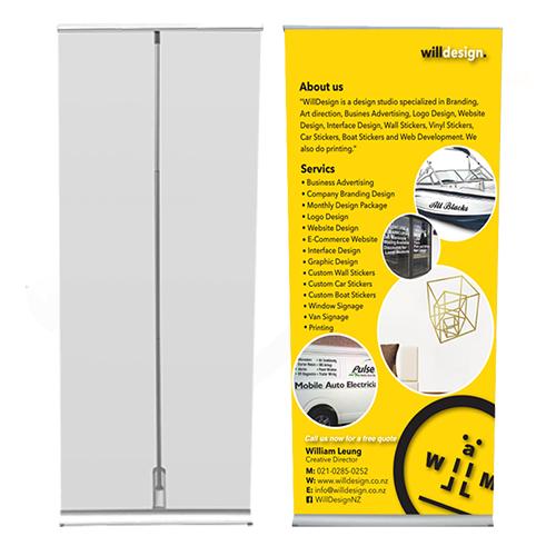 LITE Single sided Banner stand 850mm
