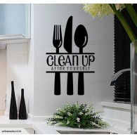 Clean up kitchen wall decal