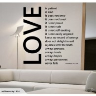 Big Love home wall decal