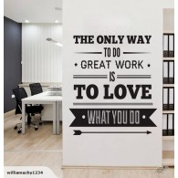 Great Work Office wall decal