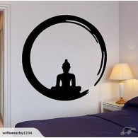 Yoga wall decal