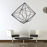 Geometric diamond wall decal