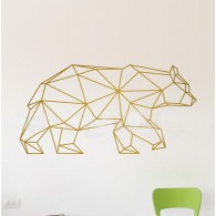 Geometric Bear wall decal