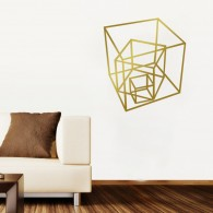 Geometric Cube Wall Decal