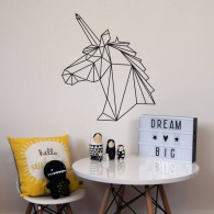 Geometric horse wall sticker