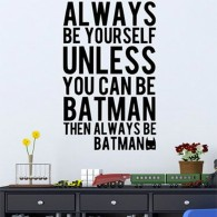 Batman quote wall decal