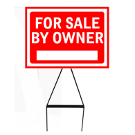 Corflute sign board for sale sign, open home, event sign - with stand