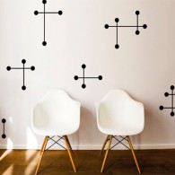 Cross wall decal