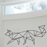 Geometric fox wall decal