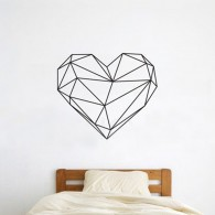 Geometric Heart Wall Decal