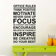Office Rules Wall Decal