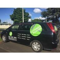 Custom size car/van window vinyl stickers