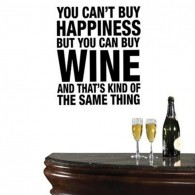 Red Wine quote wall decal